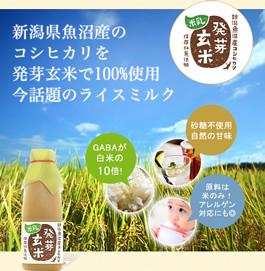 発芽玄米 米乳 ライスミルク